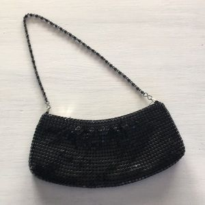 Vintage black metal purse